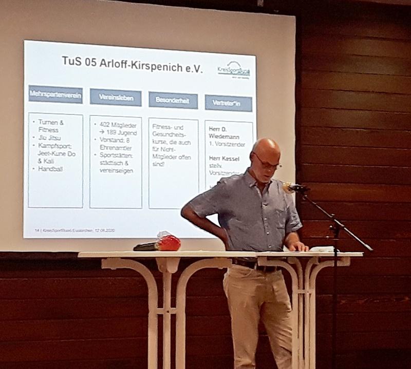 TuS-Vorsitzender Dieter Wiedemann